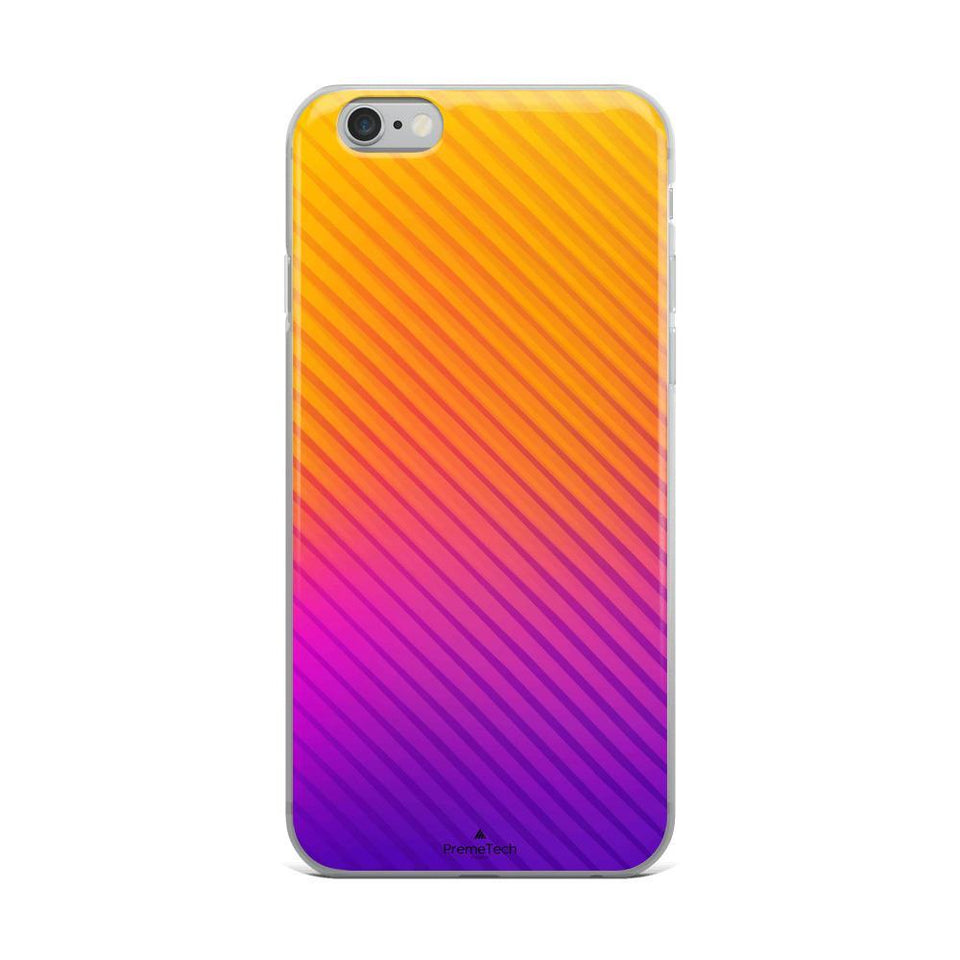 PremeTech iPhone 6 Plus/6s Plus Abstract Orange to Purple iPhone Case