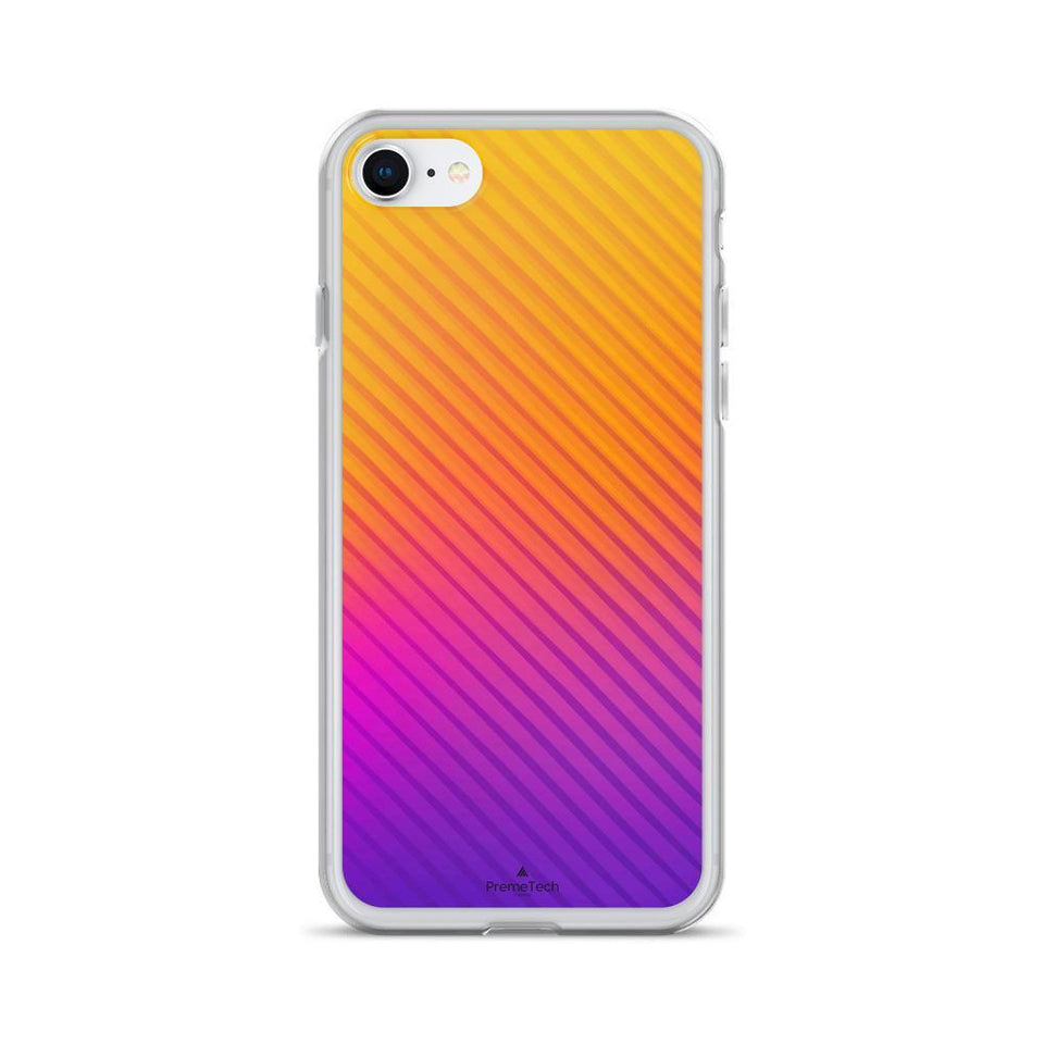 PremeTech iPhone 7/8 Abstract Orange to Purple iPhone Case