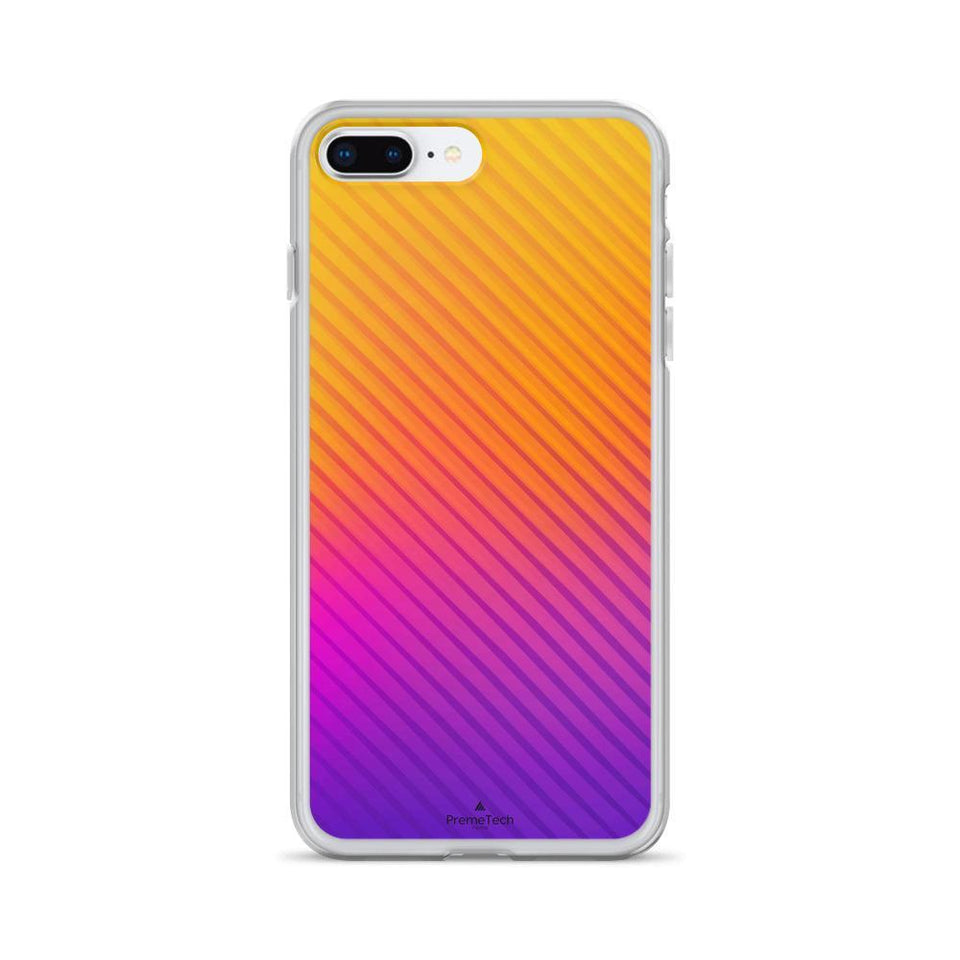 PremeTech iPhone 7 Plus/8 Plus Abstract Orange to Purple iPhone Case