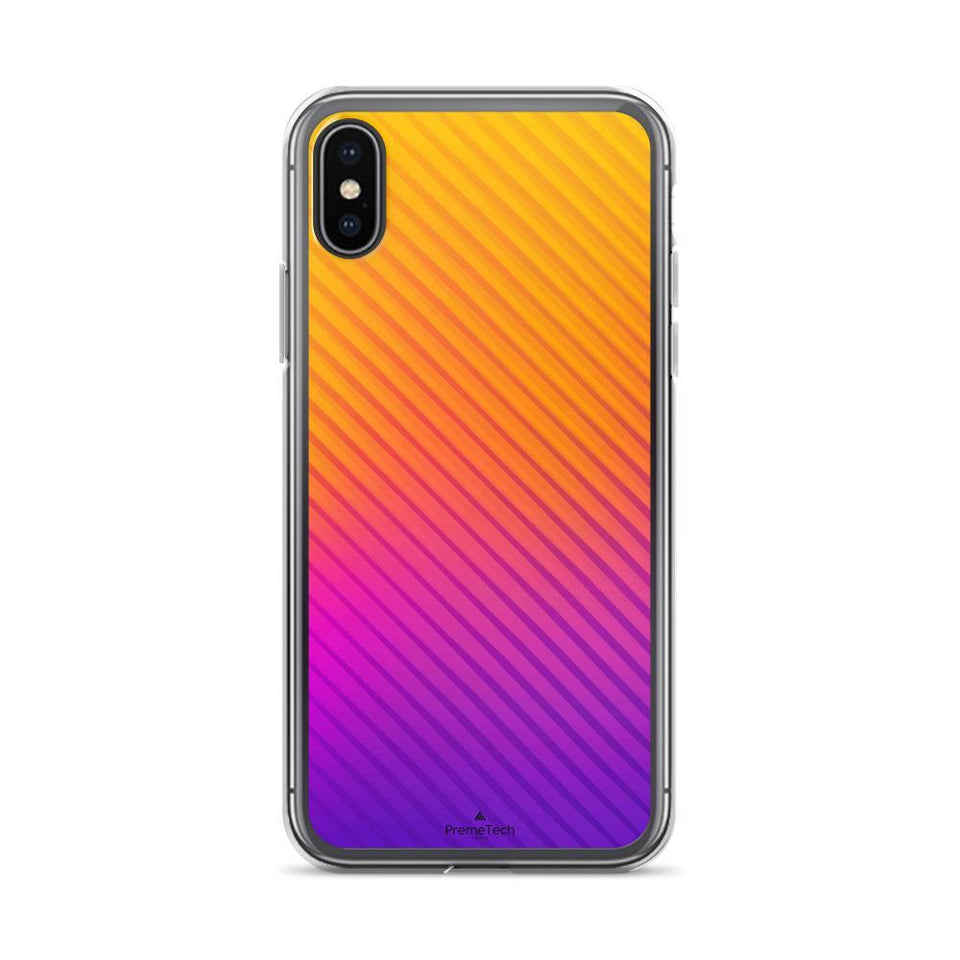 PremeTech iPhone X/XS Abstract Orange to Purple iPhone Case