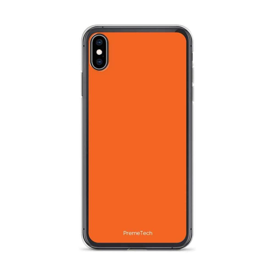 PremeTech iPhone XS Max Orange iPhone Case
