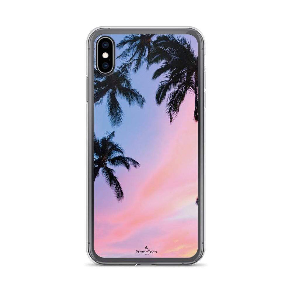 PremeTech iPhone XS Max Sunset & Palm Trees iPhone Case