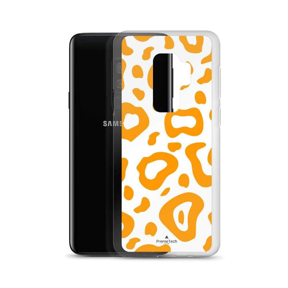 PremeTech Orange & White Leopard Print Samsung Case