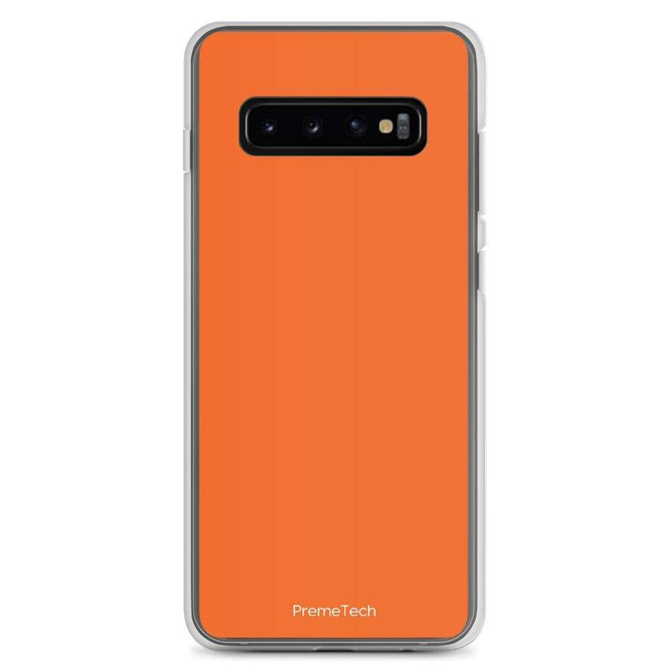 PremeTech Samsung Galaxy S10+ Orange Samsung Case