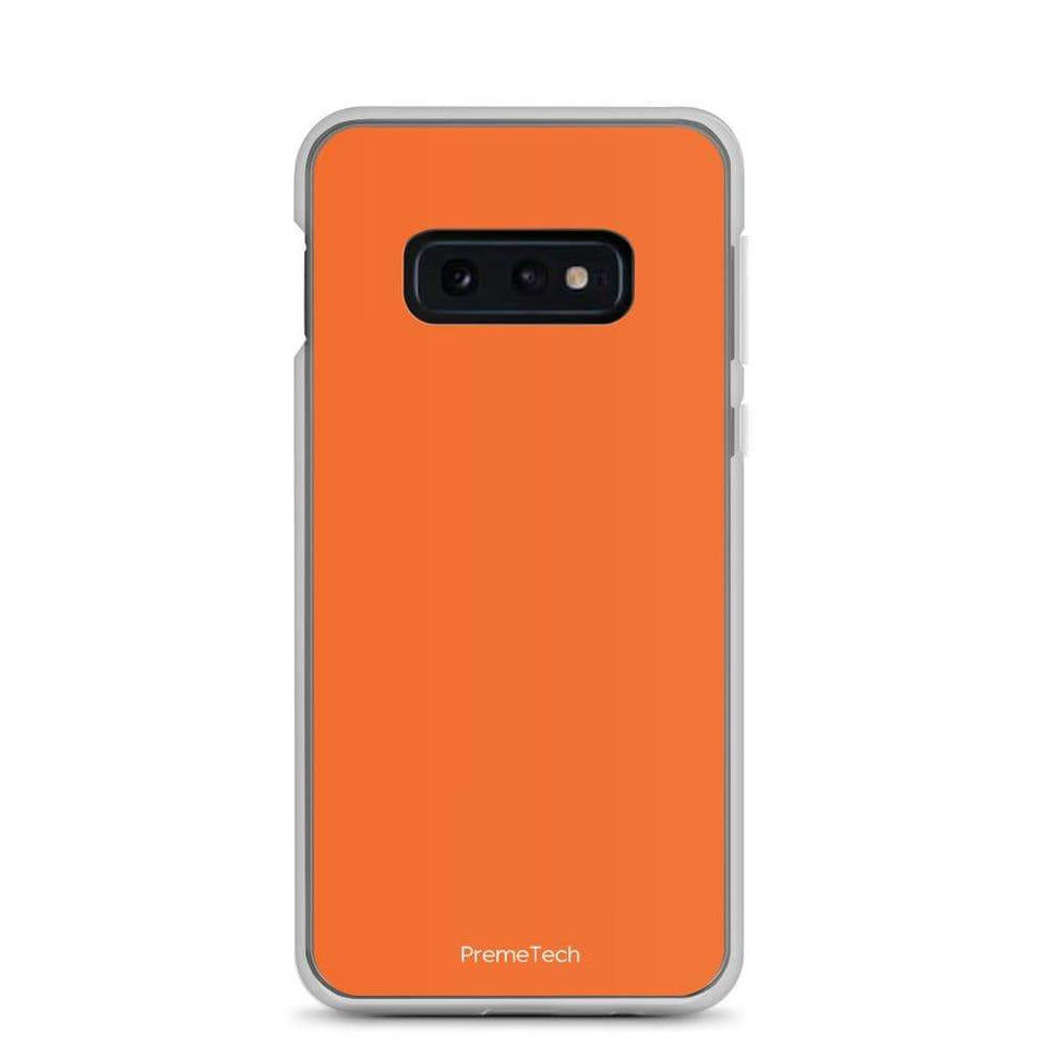 PremeTech Samsung Galaxy S10e Orange Samsung Case