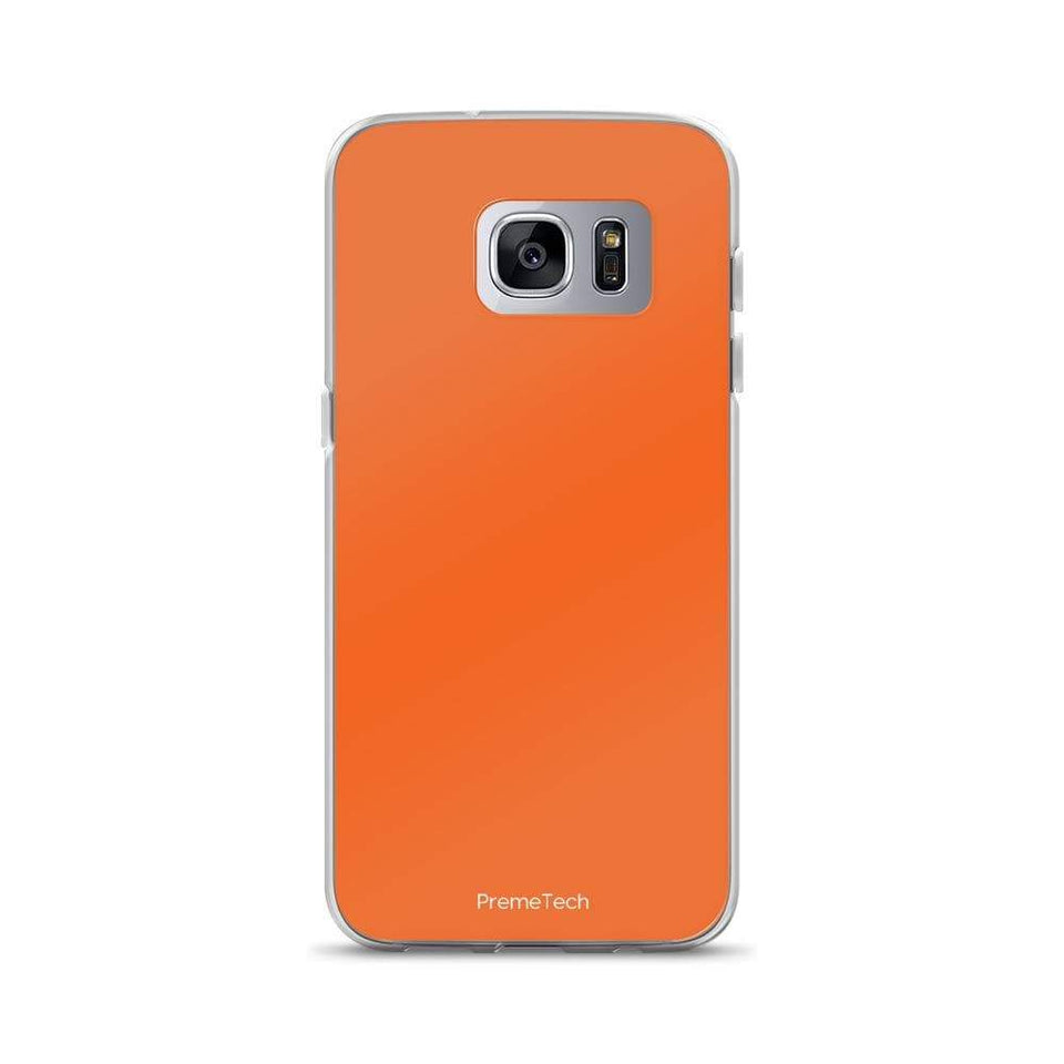 PremeTech Samsung Galaxy S7 Edge Orange Samsung Case