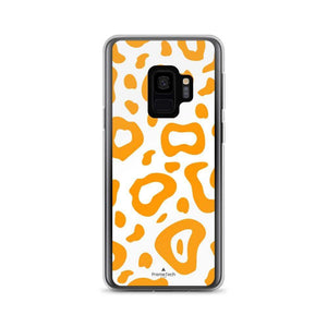 PremeTech Samsung Galaxy S9 Orange & White Leopard Print Samsung Case
