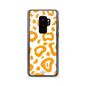 PremeTech Samsung Galaxy S9+ Orange & White Leopard Print Samsung Case