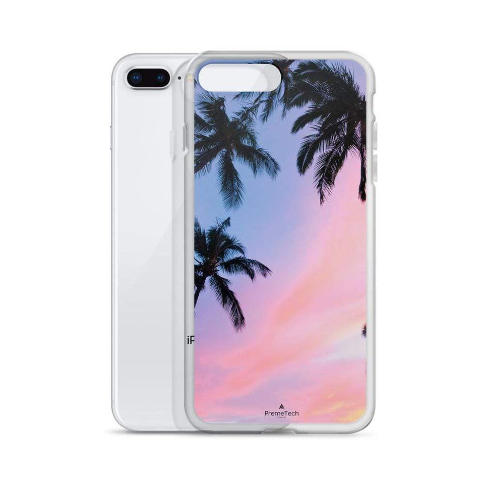 PremeTech Sunset & Palm Trees iPhone Case