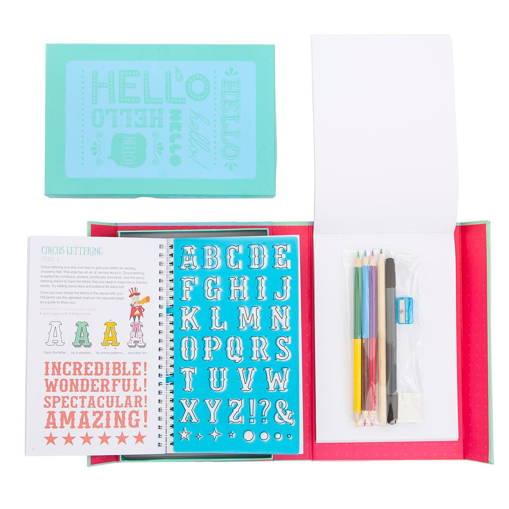 tiger tribe the lovely book of lettering kit