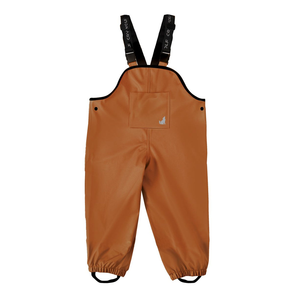 crywolf rain overalls in rust