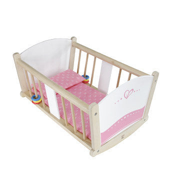 Hape Wooden Dolls Rock A Bye Cradle E3601