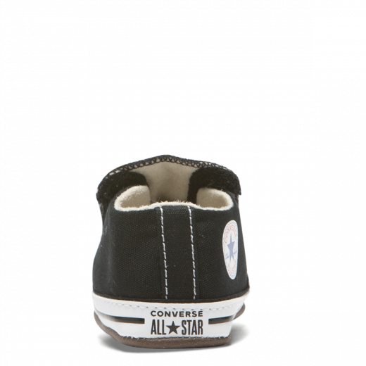 converse baby crib shoes in black & white
