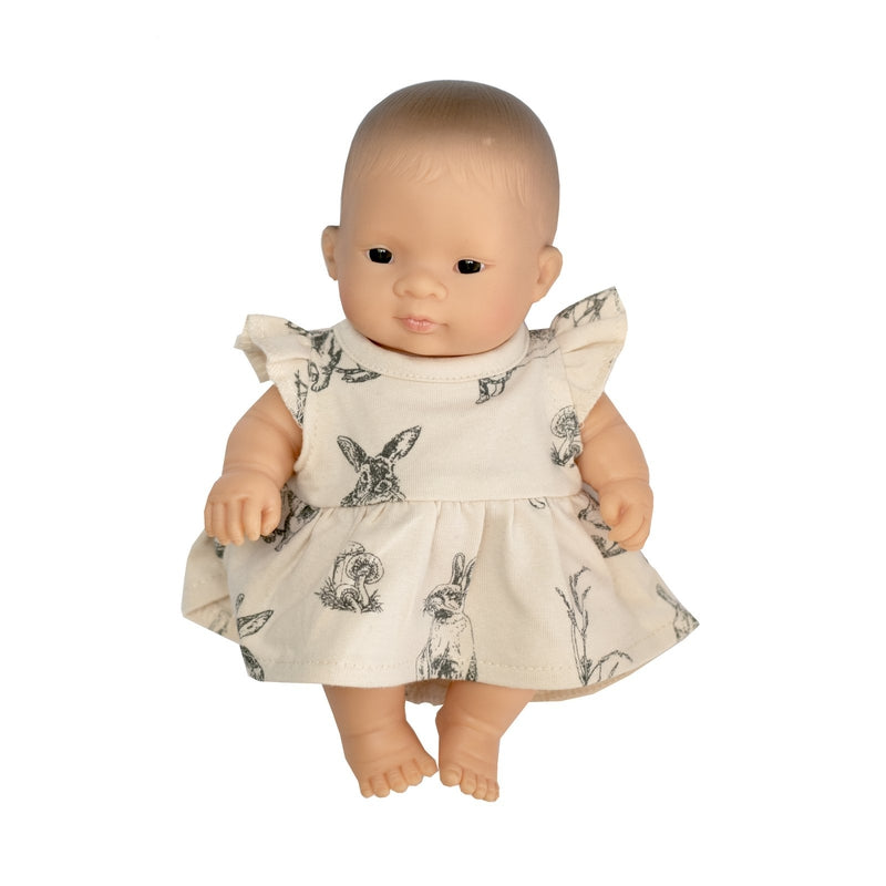 burrow & be dolls dress almond burrowers 21cm doll