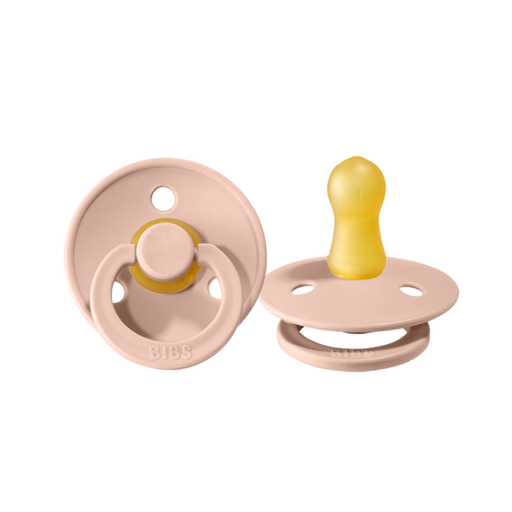 bibs pacifier 2 pack of baby dummy in blush