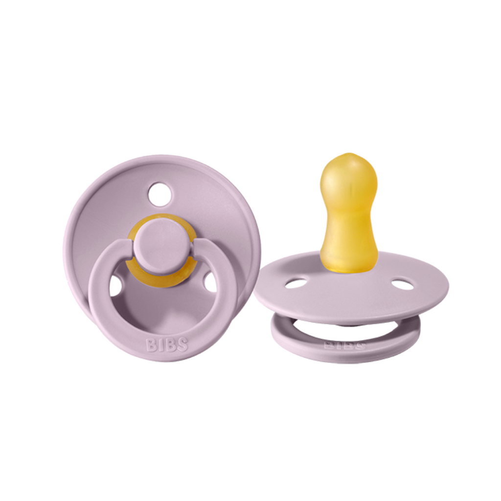 bibs pacifiers 2 pack of baby dummies in dusty lilac