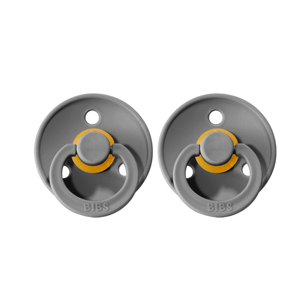 bibs pacifiers 2 pack of baby dummies in smoke grey