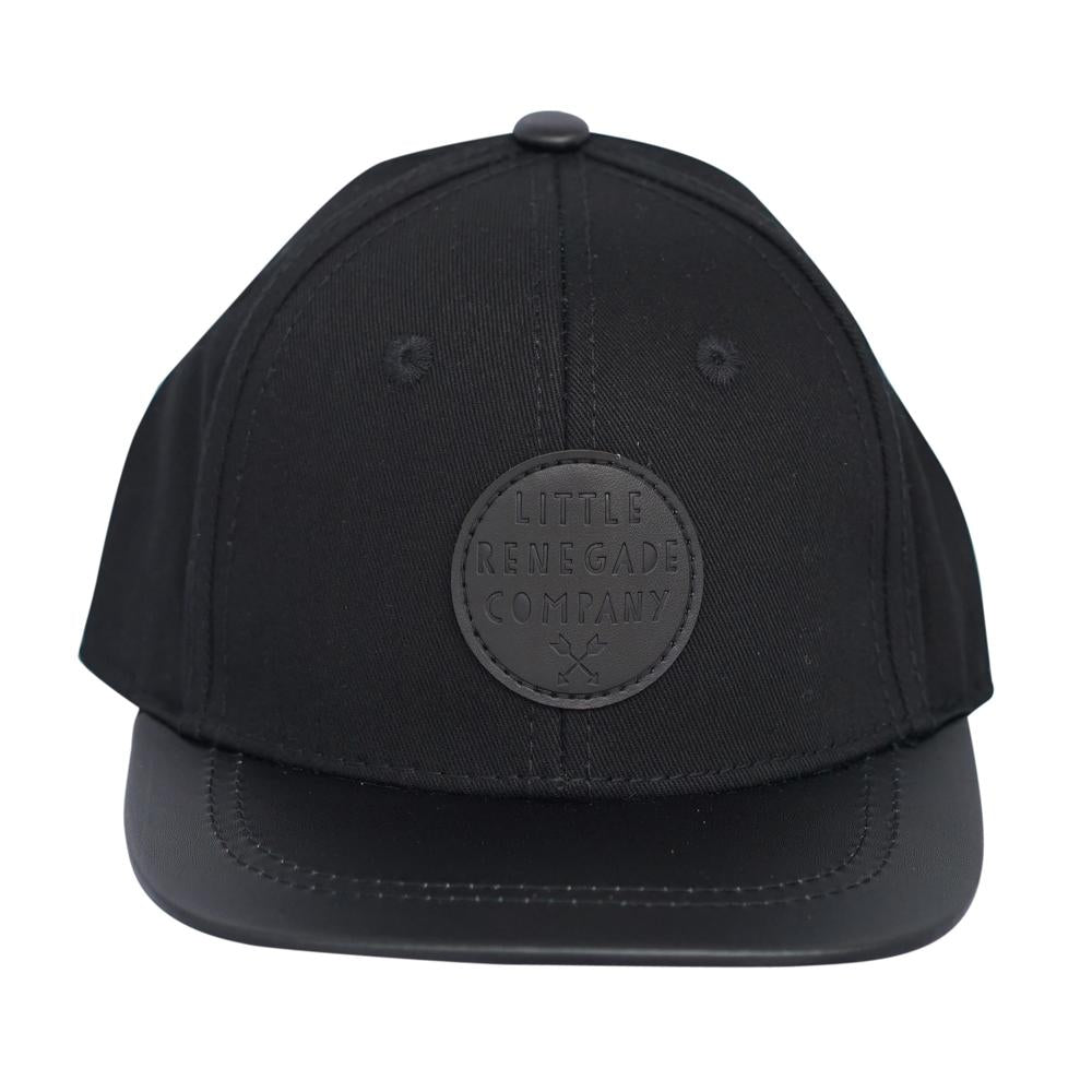 little renegade snapback cap black on black