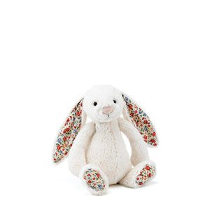 small cream blossom bashful jellycat bunny