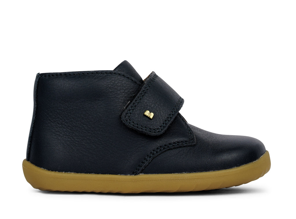 bobux step up desert boot in navy