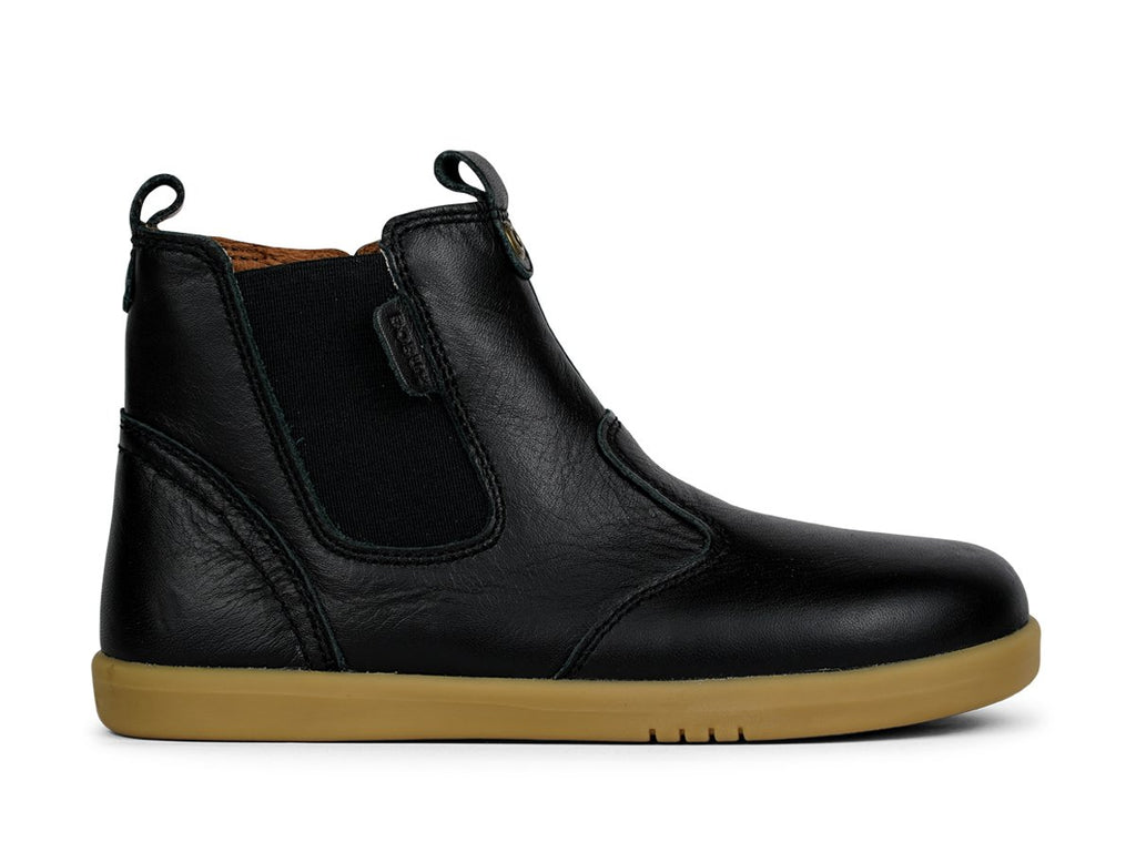 bobux kid plus leather jodhpur boots in black