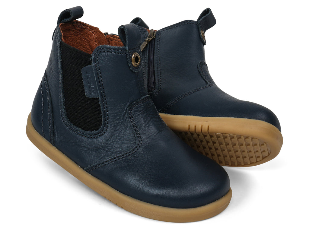 bobux i walk jodhpur leather boot in navy