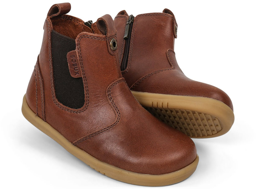 bobux i walk jodhpur leather boots in toffee