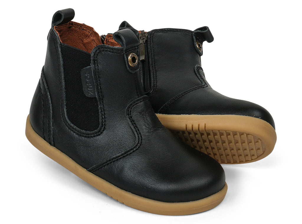 bobux i walk leather jodhpur boot in black