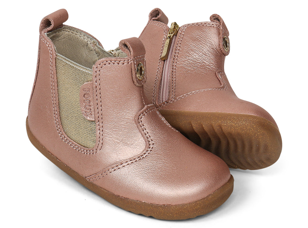 bobux step up jodhpur boots in rose gold