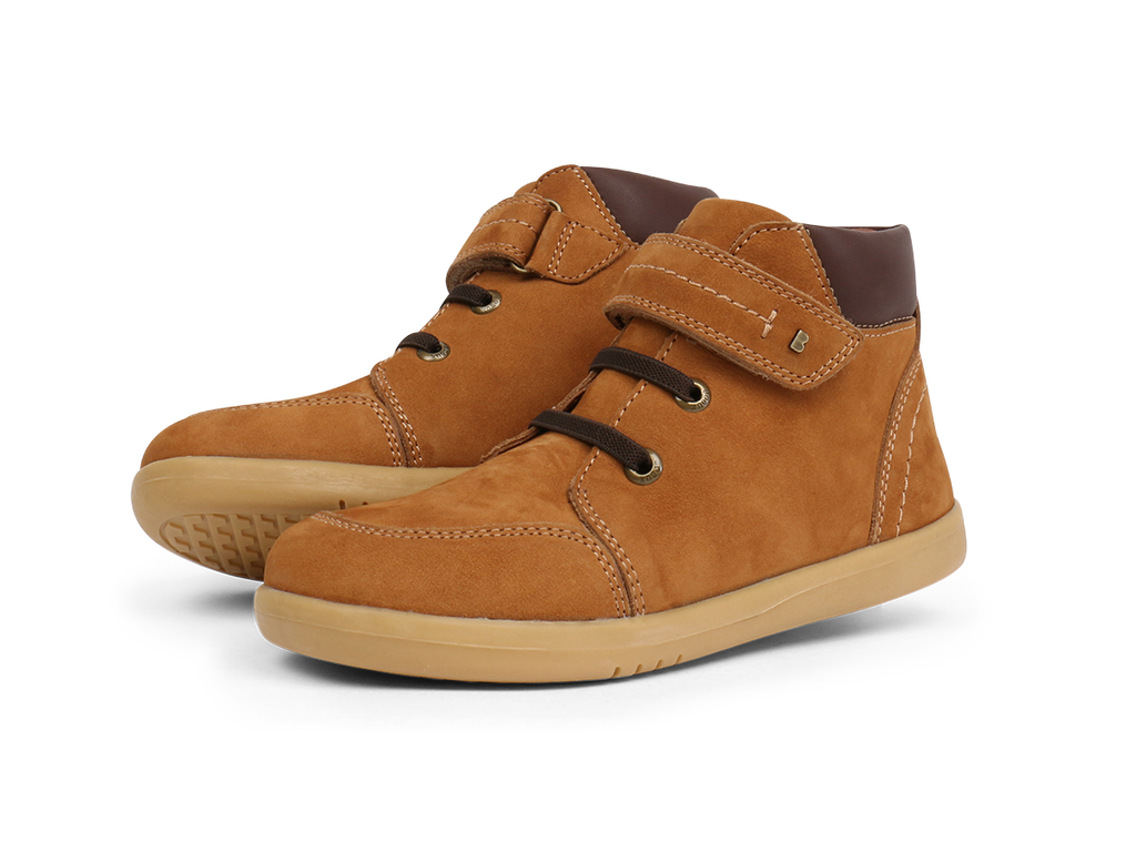 bobux kid plus timber boot in mustard