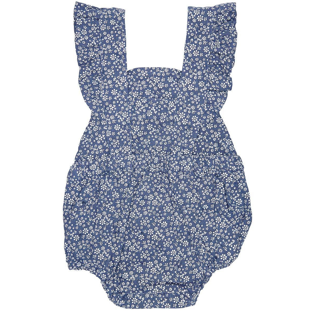 toshi baby romper in bluebell print