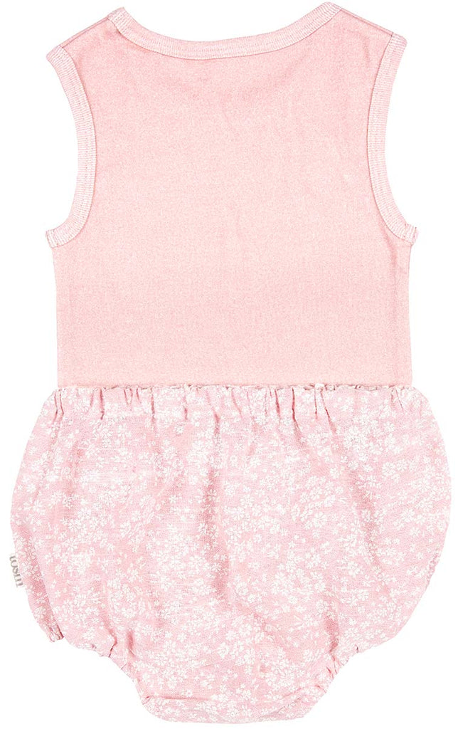 toshi 2 piece bloomer & singlet set in blush