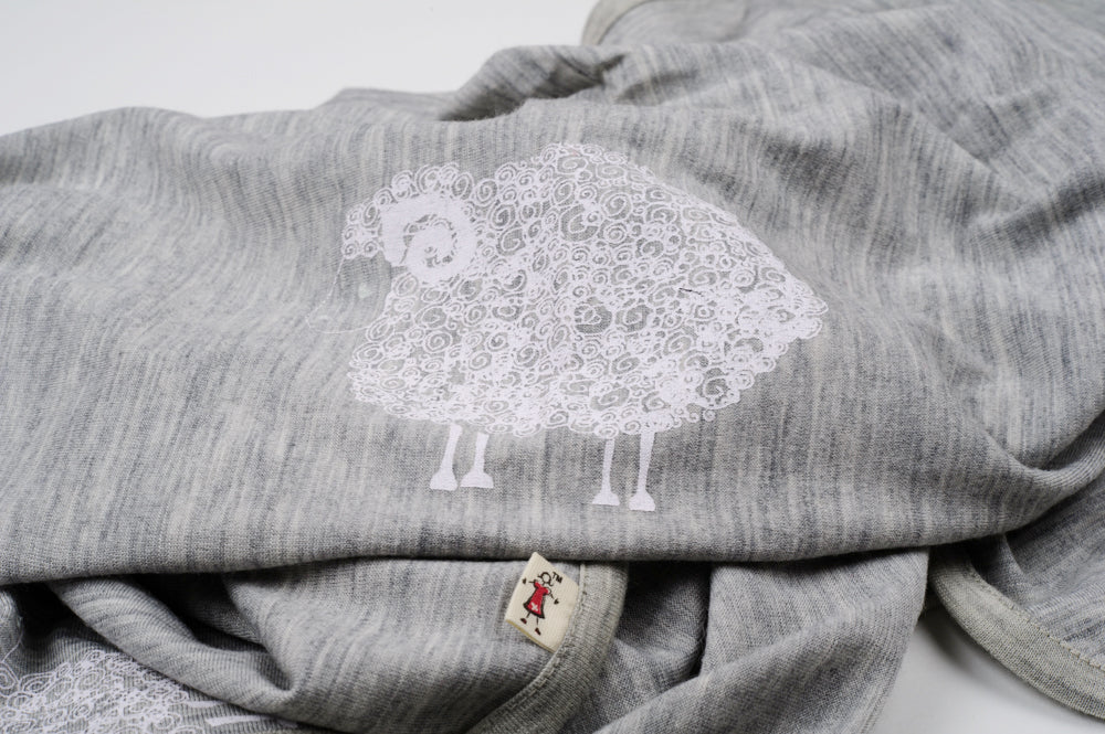 merino kids blanket in sheep print