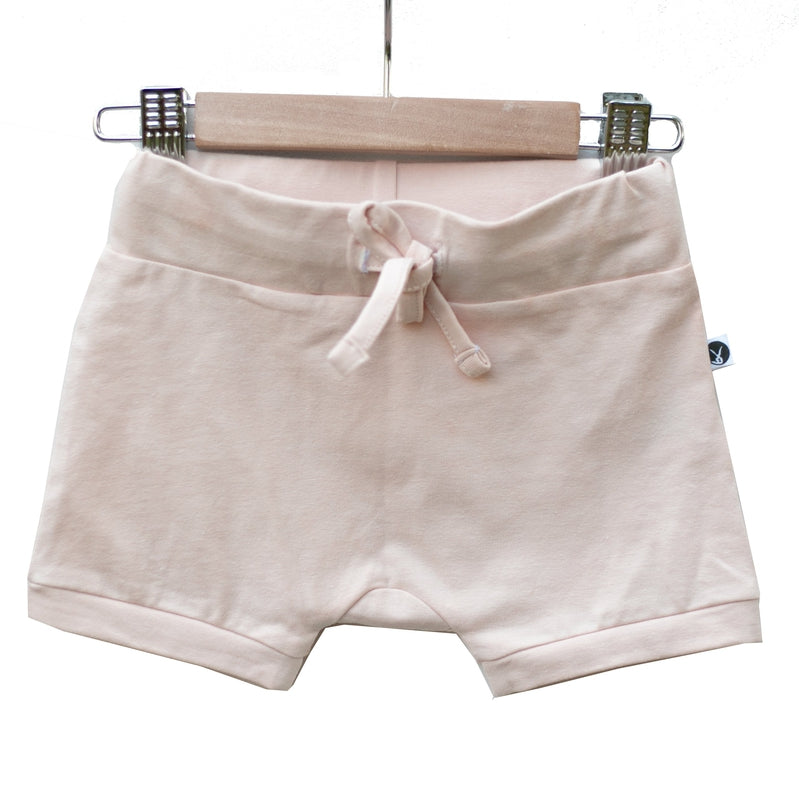 burrow & be essential baby shorts in blush