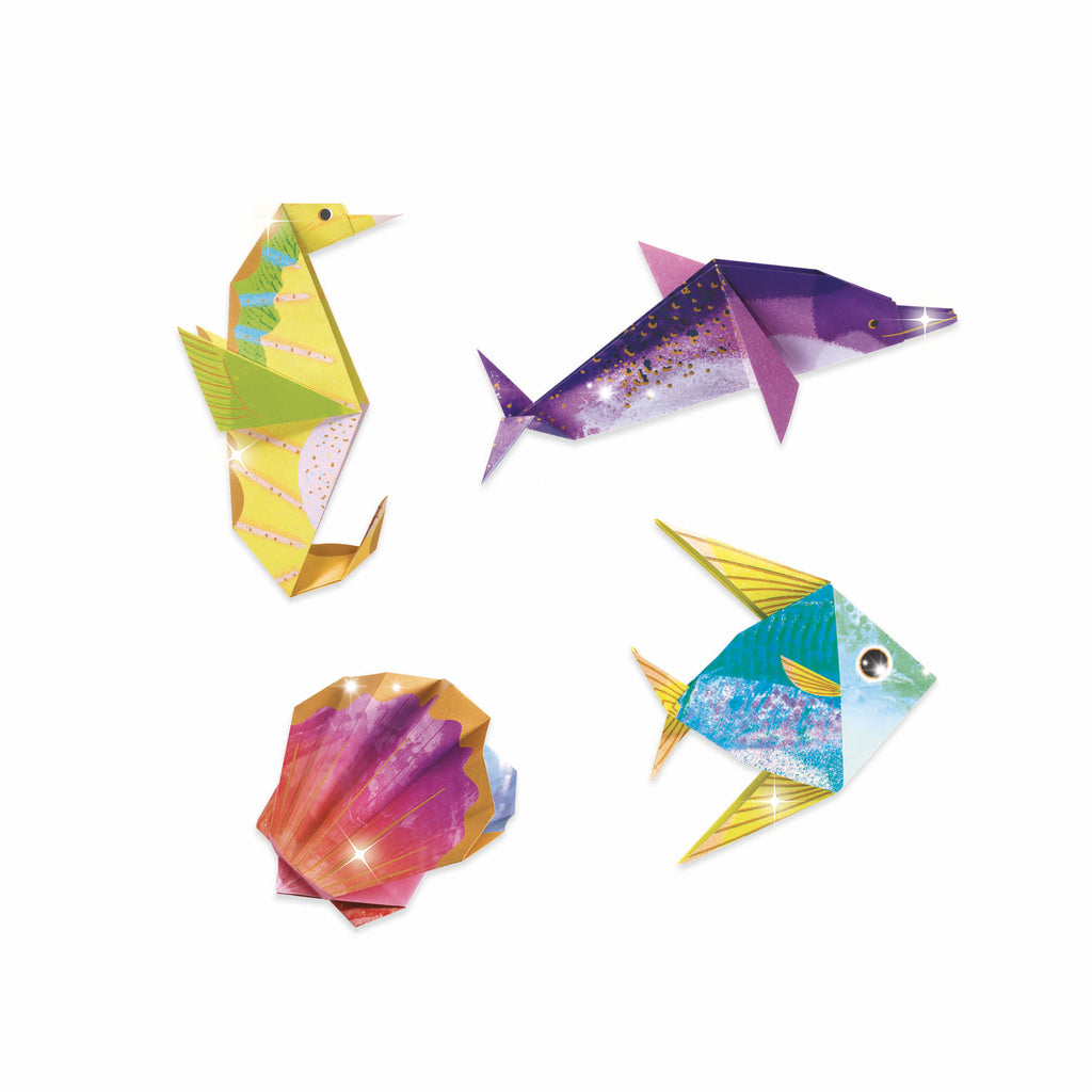 djeco origami sea creatures kit
