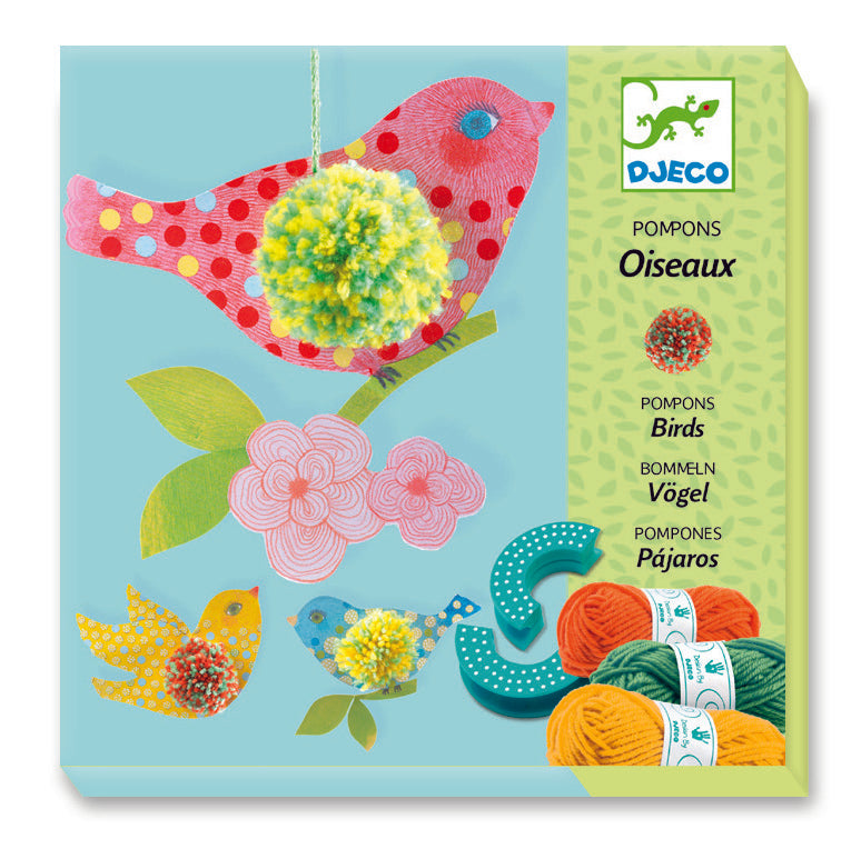 djeco 3 birds pom pom activity kit