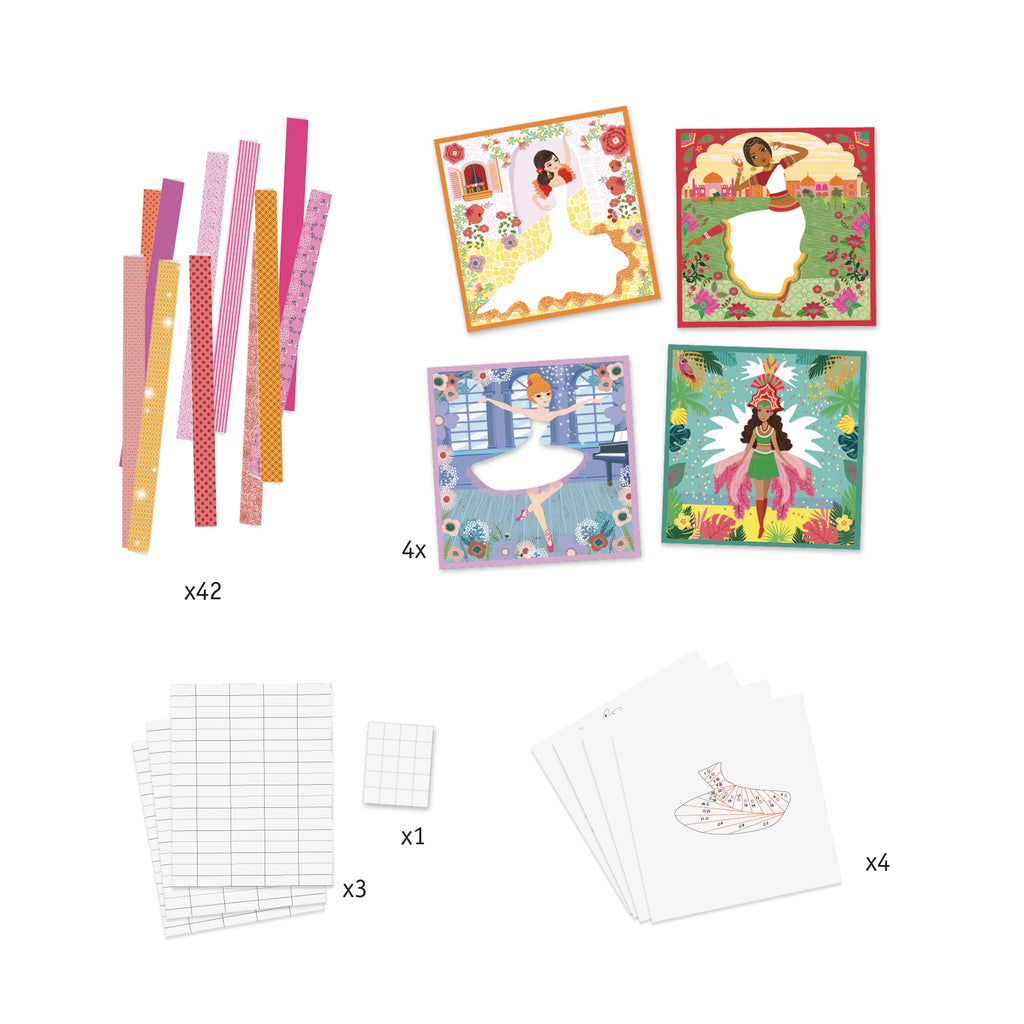 djeco iris paper folding dancing set