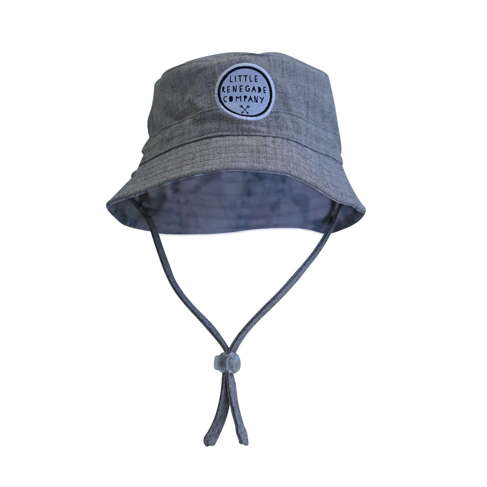 little renegade bucket style sun hat in snow days print