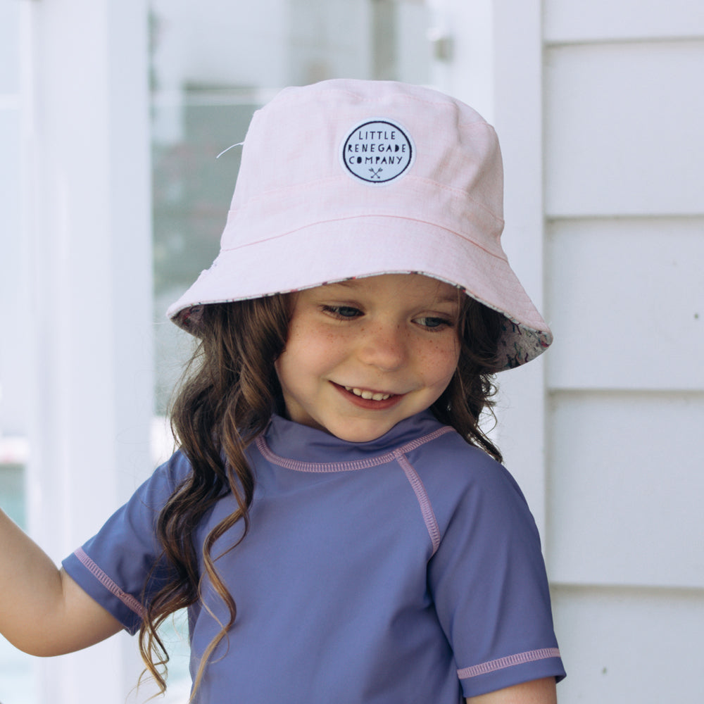 little renegade bucket style sunhat in sparkles unicorn print