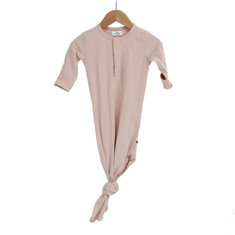 burrow & be baby sleep gown in dusty rose
