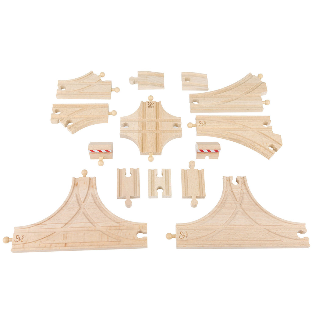 hape train advanced track building expansion pack