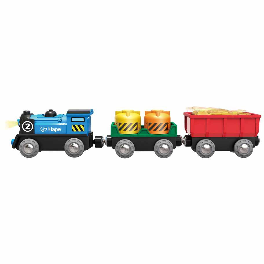 hape train battery powered rolling stock set