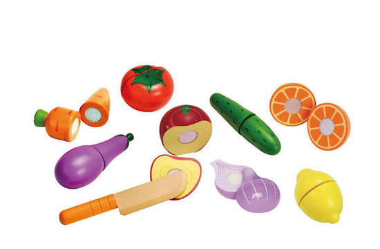 hape wooden fresh fruit and vegetable set
