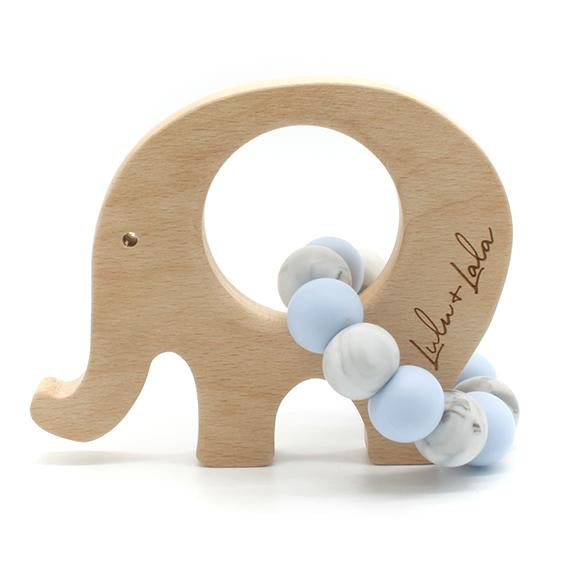 lulu & lala teether blue marble elle
