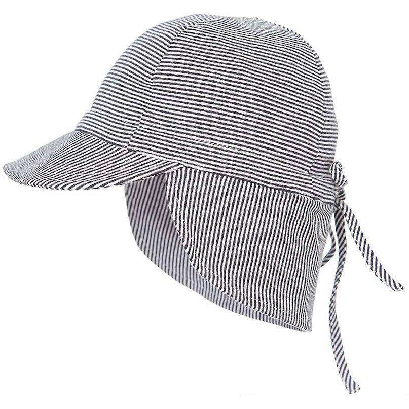 toshi baby flap cap in periwinkle blue stripe