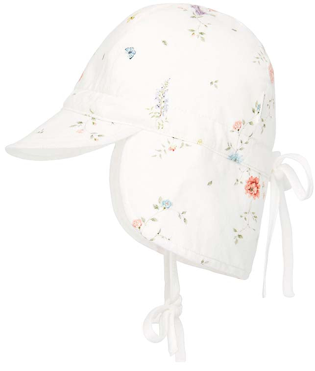 toshi flap cap style baby sunhat in bambini jessamine print