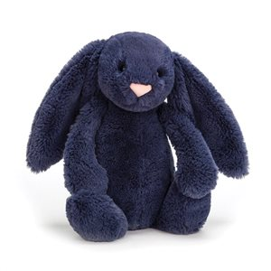 small jellycat bashful bunny in navy