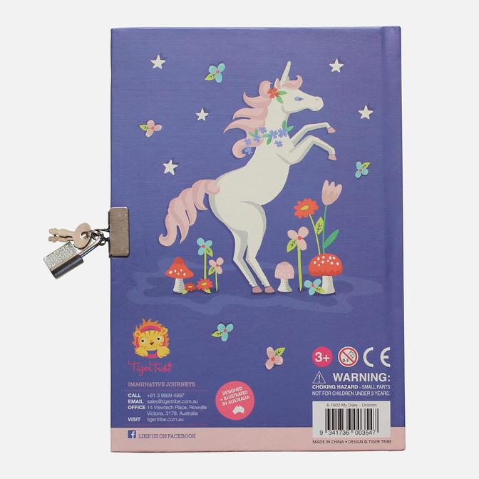 tiger tribe locakable diary unicorn rainbow