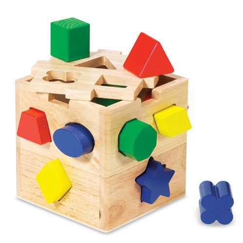 M&D Wooden Shape Sorting Cube