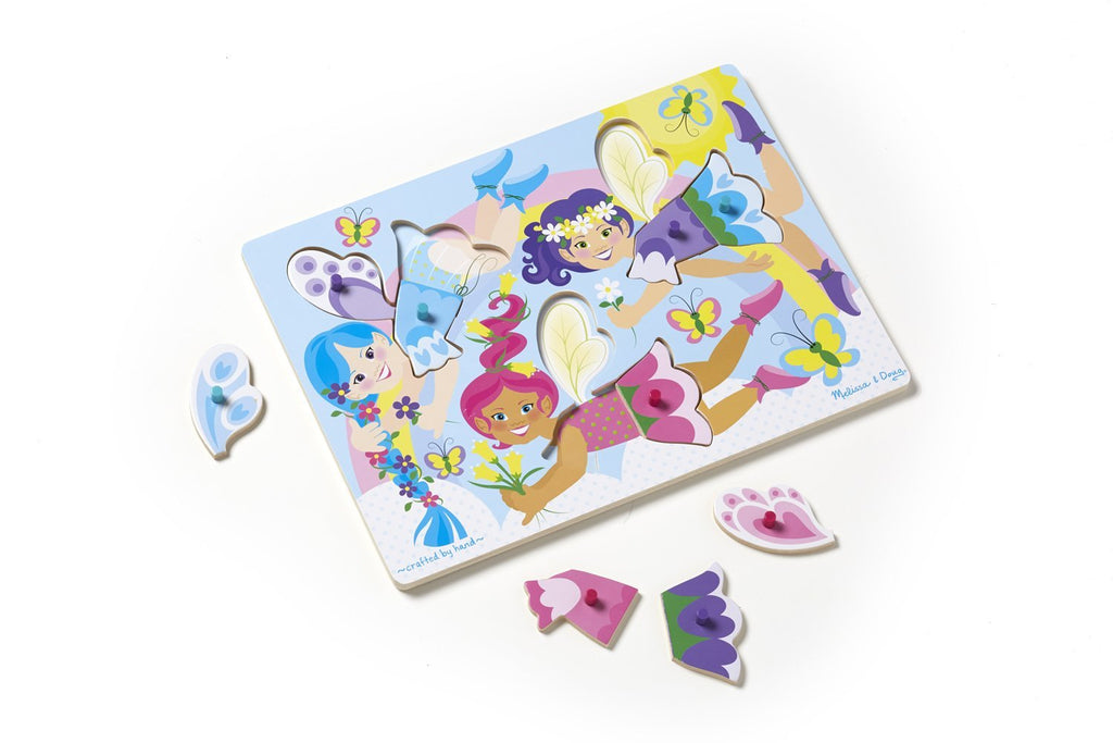 melissa & doug dress up fairies peg puzzle